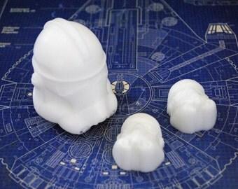 3 x Handmade Stormtrooper Soaps – Star Wars, Christmas gift, stocking gift, Novelty