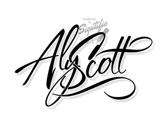 Custom name logo, professional signature logo, black and white text logo design, calligraphy logo, script name logo, one of a kind logo