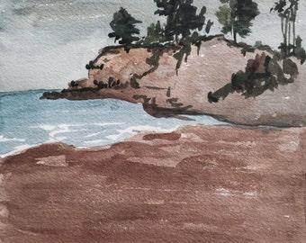 Original unframed watercolor