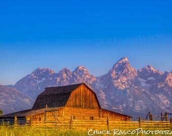 Photo Art - Mountain Photography - Moulton Barn - Sunrise