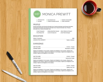 Resume Template / CV Template - Instant download