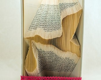 Book folding Pattern for STORK WITH BABY - Baby Bundle - Tutorial -Handmade T63-184