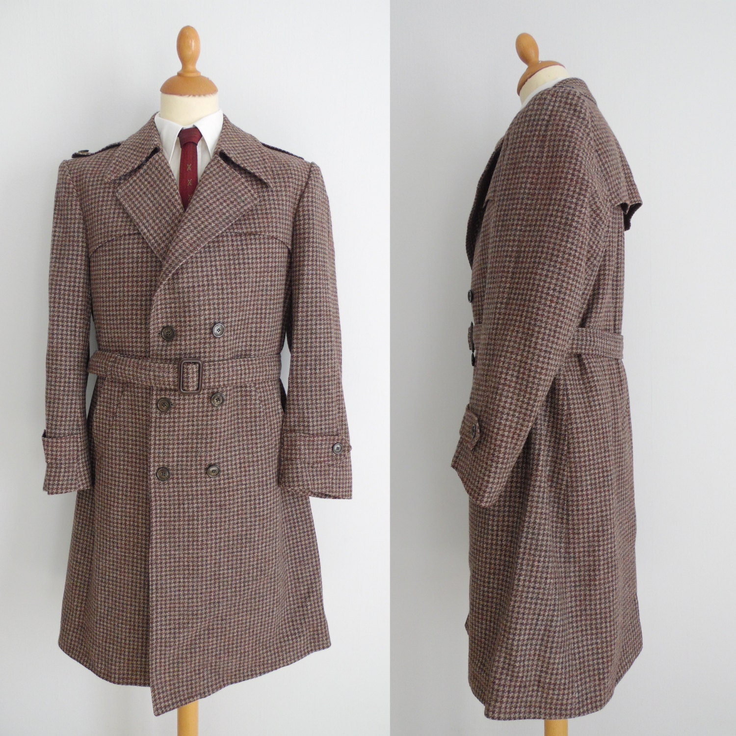 Tweed Trench Coat - Tradingbasis