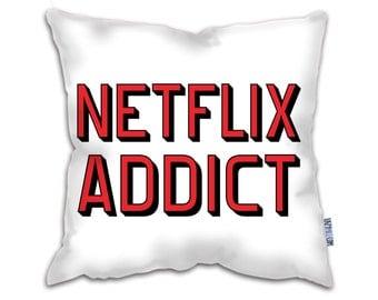 Netflix Addict Faux Suede Cushion