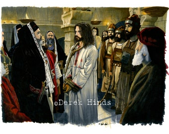 Christ Taken Before Caiaphas LDS Art Photo Download