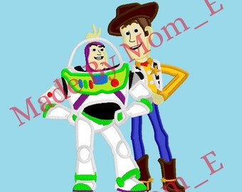 Buzz and Woody Applique