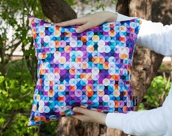 Geometric Circles Cushion Cover