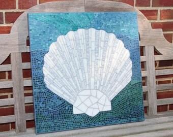 Mosaic Wall Art - Scalloped Shell