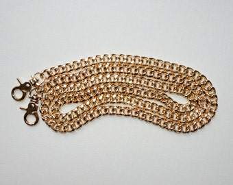 Long Vintage Gold Purse Chain