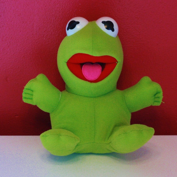 Top 50 Muppets Loc 80: 80s Baby Kermit The Frog Stuffed Animal // The Muppets Cartoon