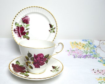 SALE SALE SALE floral china rose patterned trio by Regency china was 8.99 now 4.99