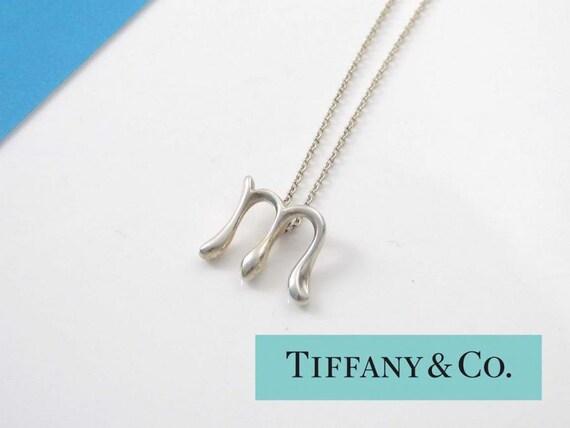 Tiffany sterling elsa peretti alphabet letter m by for Elsa peretti letter pendant review