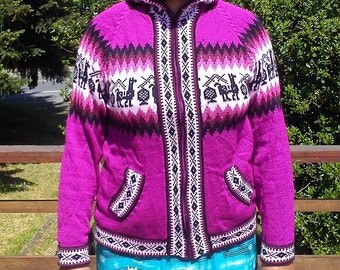 Colourful Alpaca Sweater Hoodie
