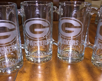 Personalized Glass Etched Beer Mugs