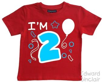 I'm 2. Girls & Boys 2nd Birthday T-shirt