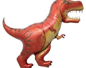 T-Rex Dinosaur Balloon - Jumbo Foil Mylar Balloon - Dino Party
