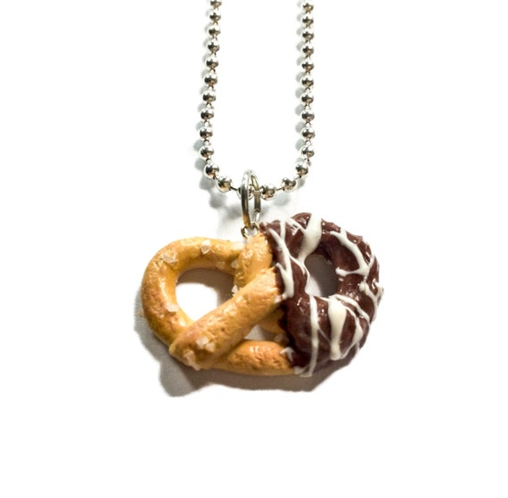 Scented chocolate covered pretzel necklace by for How to make scented jewelry