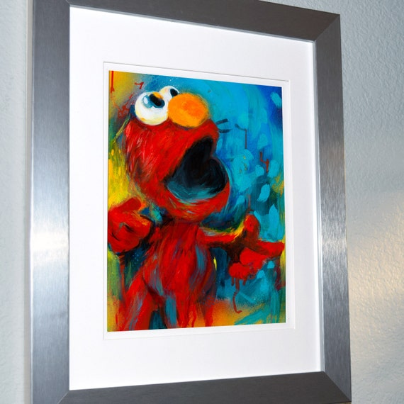 Elmo from sesame street wall art printbaby by superheronaptime for Elmo wall mural