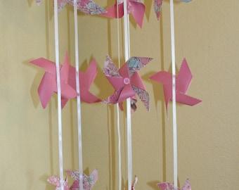 Handmade pinwheel mobile