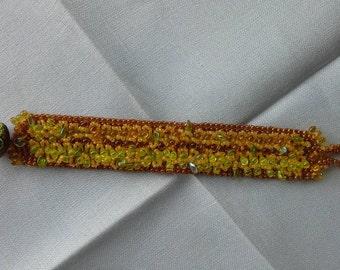 Fall beaded bracelet