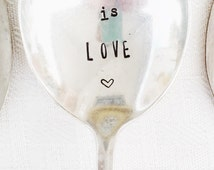 Love Wins, Stamped Spoon, Marriage Quality, Unique Gifts, Stamped Silver, Wedding Gift, Love Is Love, Equal Rights, Gay Rights, Human Rights