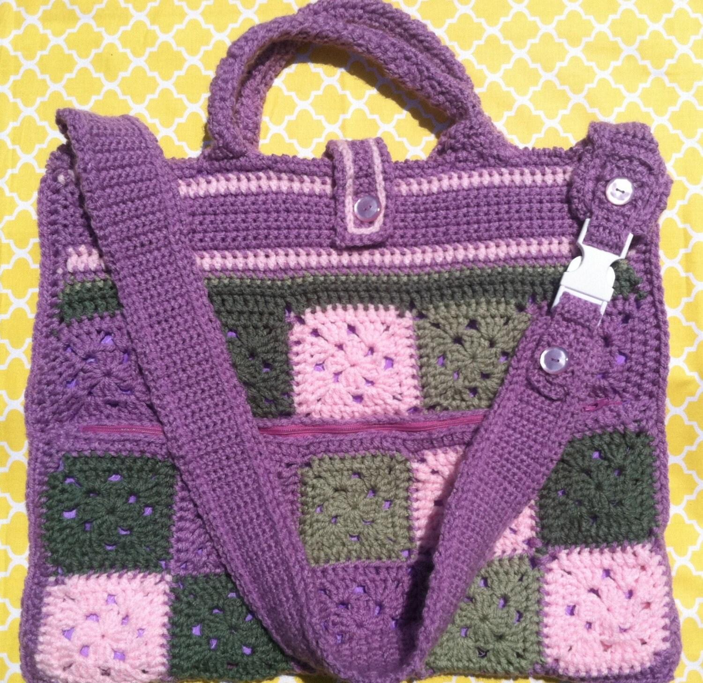 On Sale Crochet Laptop bag/ Carry Satchel Large by ...