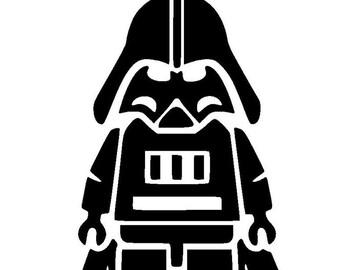 Lego Darth Vader Car Window Vinyl Decal