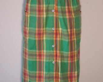 Vintage Plaid Checkered Hipster Skirt Bicycle Summer Skirt