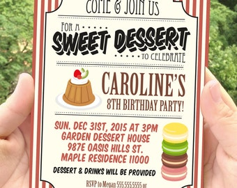 PDF format-Instant Download-Dessert-invitation-ticket invitation-access card-game ticket-for personal use only