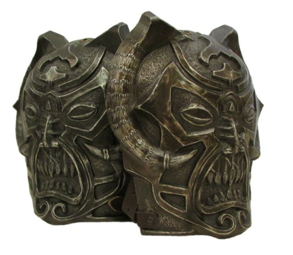 Larp Armor unholy demon shoulders, pauldrons, spalders, spaulders, SCA, LRP, Theatrical