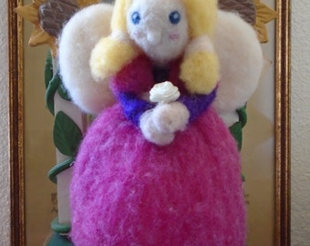 Waldorf Needle Felted Angel Hanger