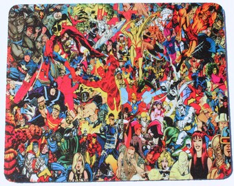 Custom Printed marvel comic characters inspired hulk captain America mouse pad mouse mat computer mouse pad mousepad Computer Gift