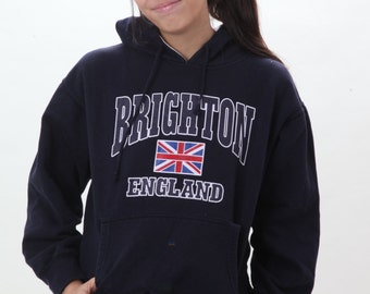 Brighton England Hoodie with England Flag Pullover