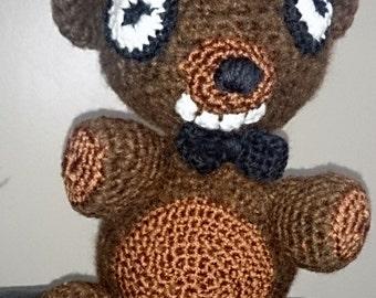 Freddy fazbear crocheted fnaf stuffed toy amigurumi bear