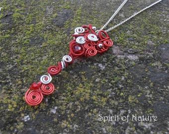 Heart key necklace Skeleton key necklace Skeleton key jewelry Key pendant necklace Wire key pendant red pendant necklace silver key necklace