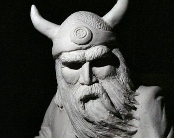 Greetings Card - ULLR #02 - Norse God of Winter. VIKING. Fine Art Greetings Card from Original CERAMIC Sculpture. Blank Inside.