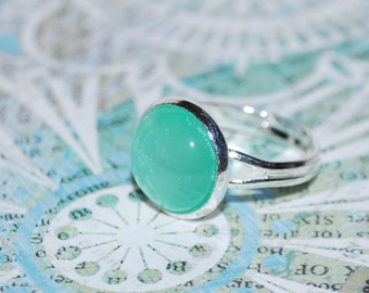 Green Adjustable ring
