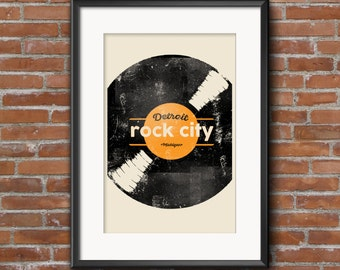 Detroit Rock City Limited Edition Art Print - 11x17 Poster by UnVeil Co.