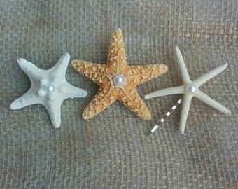Starfish Hair Clips, Starfish Hair Pins, Starfish Hair Accessories - Beach Hair, Mermaid Hair