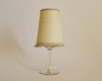 Hessian Lampshade Home Decor Rustic, Home Rustic, Home Decorations, Home Decor Ornament, Candle Holder Rustic