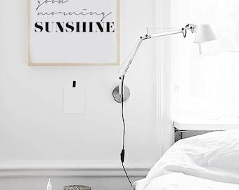 "Good Morning Sunshine - Inspirational Poster - Printable Poster - Morning Sunshine Scandinavian Poster 70x100cm ,50x70cm, A4 24x36"",8x10"""