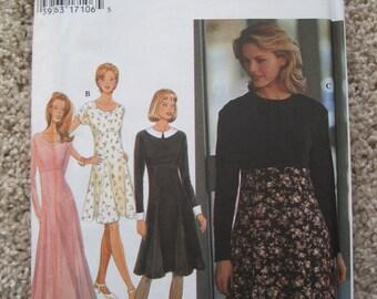 UNCUT Misses Dress - Simplicity Sewing Pattern 9752 - Vintage 1995