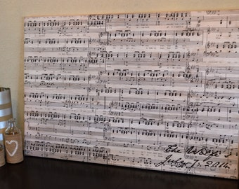 Medium Music Wall Art: Wedding Anniversary (Distressed Canvas)