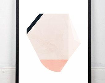 Geometric print, Scandinavian art, Watercolor wall art, Simple art, Minimalist print, Mid century modern, Earth colors, Modern print, A3, A4