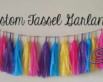 Custom Tissue Tassel Garland (6 feet)