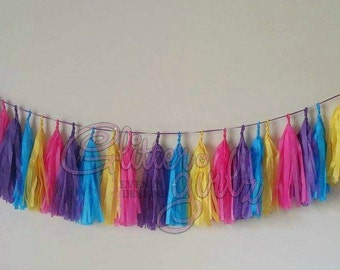 Picasso/ Art Party Tissue Tassel Garland