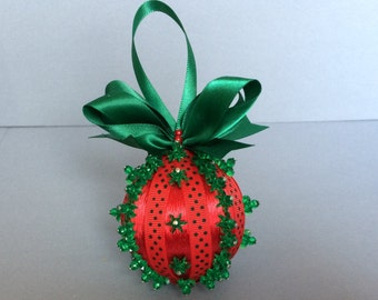 Red & Green Christmas Ornament