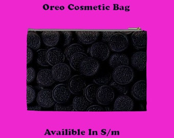 Cookies Cosmetic Bag, Cosmetic Bag, Make Up Bag, make up bag,sweet, chocolate, cream