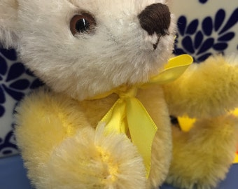 Vintage Steiff Dolly Teddy Bear 15 cm/6 inches (yellow/white)