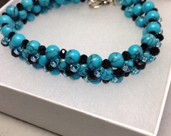 Sale!!  Beautiful stone bracelet in Turquoise....